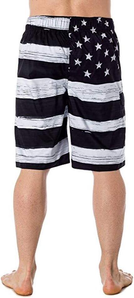 Little Story Men American Flag Print Independance Day Inspired Board Denim Shorts Pants XL