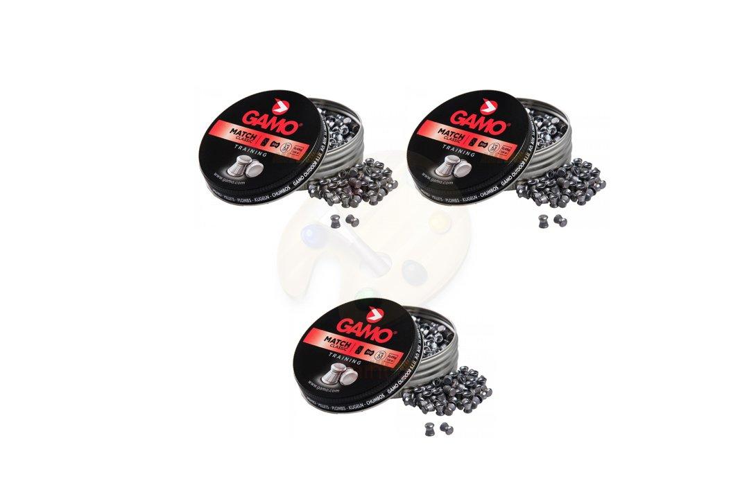 Promohobby Pack 3 latas de 500 perdigones gamo match classic (diabolo) 4, 5mm