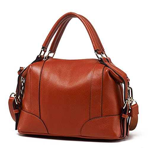 Wild Bag United Female Bag Bag YJIUJIU Soft Brown Fashion And The Lady Messenger Hand Bag Shoulder Europe States nfPXHzx