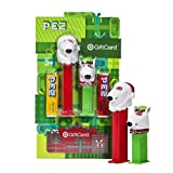 Exclusive Target Dog Bull Terrier Gift Card Bullseye Santa & Elf Pez 2 Pack, Zero Dollar Balance by Pez Candy by Pez Candy