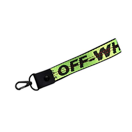 bad166559385 Image Unavailable. Image not available for. Color  Off White Volt Industrial  Belt Key Chain