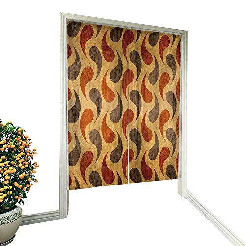 "PRUNUS Noren Doorway Curtain Decorative Panels Interior wdecoration wrapp Paper Design Wallpaper Hand or Machine wash in Cold Water 33.5"" Wx33.5 L"
