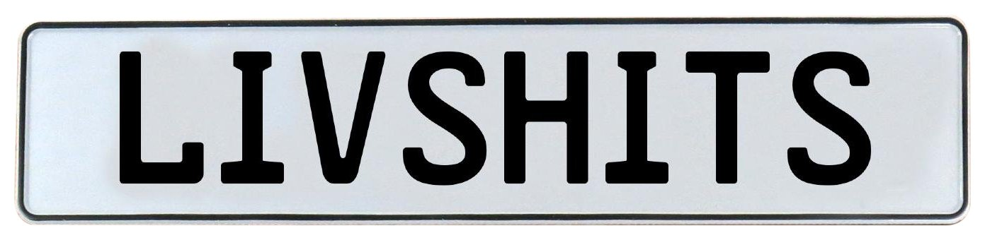 Vintage Parts 682109 Livshits White Stamped Aluminum Street Sign Mancave Wall Art