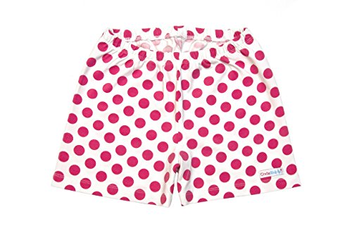 Pink Cotton Jersey Dot (Little Girls All in One Under Shorts - Pink Polka Dots - 6)