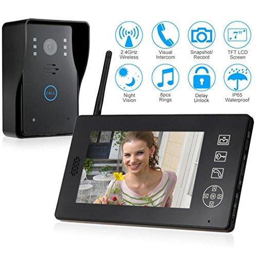 DOOLST Video Doorbell 7-inch WIFI Digital HD Video Doorbell Low Power Consumption Waterproof High Definition Video Door Phone Doorbell Set