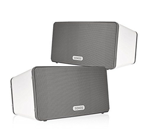 Sonos Play 3 Multi Room Digital Music System Bundle  2   Play 3 Speakers    White