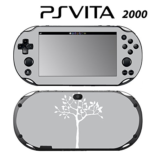 Skin Decal Cover Sticker for Sony PlayStation PS Vita Slim (PCH-2000) - White Tree in Grey Backgound -  Decals Plus, PV2-PA04