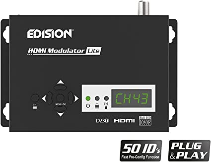 Edision Hdmi Modulator Lite Single Hdmi To Dvb T Plug Elektronik