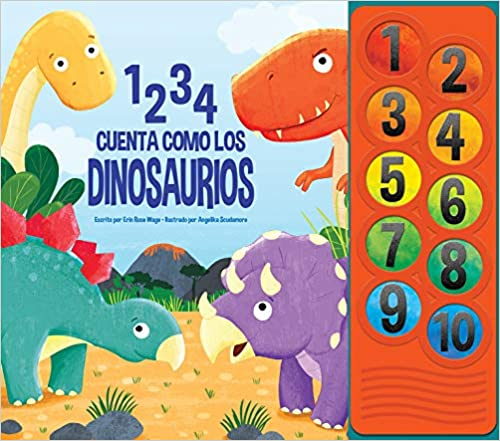 1 2 3 4 Cuenta Como Los Dinosaurios Lnlb Spanish Edition Pi Kids 9781503746862 Amazon Com Books Find out all about dinosaurs by doing tests and experiments on a dinosaur discovery! 1 2 3 4 cuenta como los dinosaurios