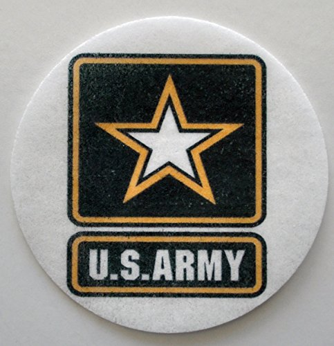 """Price comparison product image United States Army Edible Wafer Cupcake / Cookie Toppers Licensed by Decopac ~ Pre Cut 2 1 / 2"""" Round BUY TWO GET THIRD FREE!"""