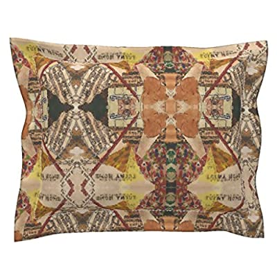 Roostery Collage Flanged Pillow Sham My Old Kentucky Home by Anniedeb Natural Cotton Sateen made by