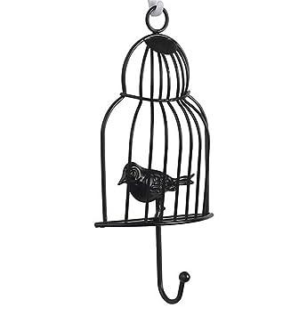KIEYY Montaje en pared Jaula de pájaros Gancho en forma de hierro ...