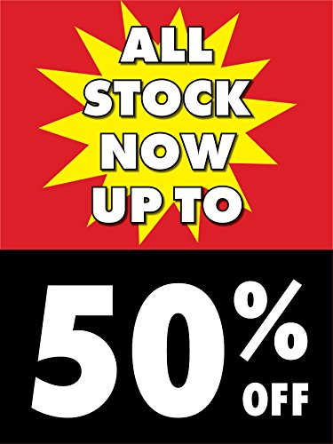 Stock Corrugated Displays - All Stock Up To 50% Off Retail Display Sign, 18