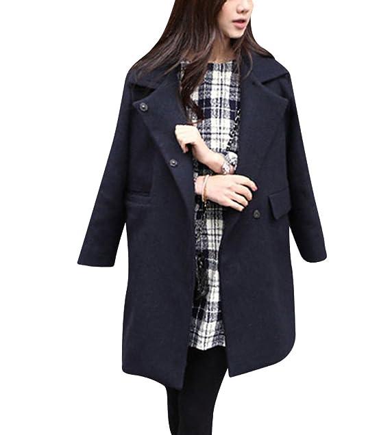 3fef3ca29ae6c3 Eleganti Open Front Cappotto di lana blended da donna, Cappotti Cardigans a  Maniche Lunghe L