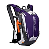 Outdoor Sports Cycling Hiking Camping Travel Daypack, Water resistant, 18L(purple)
