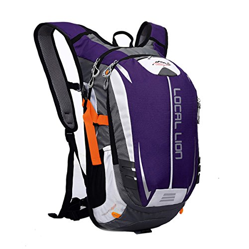 Outdoor Sports Cycling Hiking Camping Travel Daypack, Water resistant, 18L(purple) by YOGOGO (Image #1)