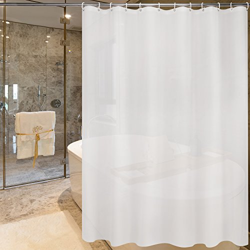 Fancy-fix Mold & Mildew Free Shower Curtain liner PEVA Heavyweight, Anti-bacterial 72x72 Inch, No Chemical Odor,Waterproof - Frost(bonus