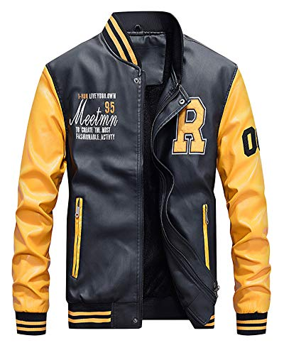 Air Bomber Patches Giallo Bombers Baseball Giacca Jackets Original Uomo Force Cappotti Un5fPqW5wB