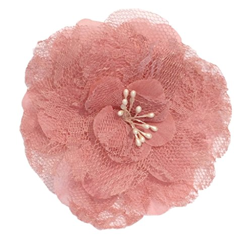 [Cuteque International Victorian Lace Rose with Plastic Center Pearl Stamens, 4-Inch, Dusty Rose,] (Costumes By Dusty)