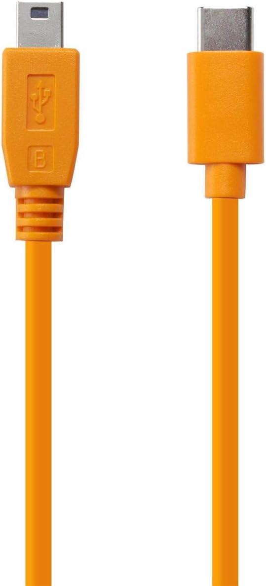TetherTools Air Direct USB-C to USB 2.0 Mini-B 5-Pin Cable 2pk