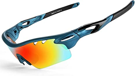 ZALA Gafas De Sol Polarizadas para Ciclismo con 5 Lentes Intercambiables UV400 Y Montura De TR-90, Gafas para MTB Bicicleta Montaña 100% De Protección UV: Amazon.es: Deportes y aire libre
