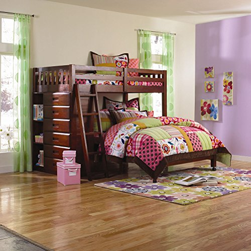 wooden bunkbeds twin over full - 7