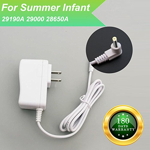 for Summer Infant 29190A 29000 29000A 28650A Baby Monitor Charger Power Cord Replacement Adapter Supply Compatible with Monitor and Camera, More with 28630 29240, DC 7.5V 6.6Ft