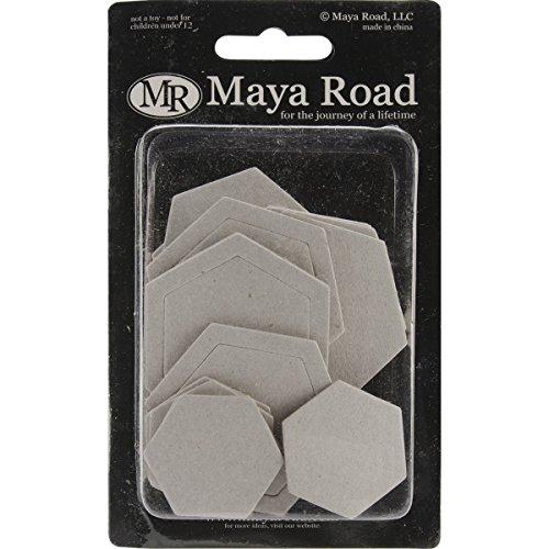 Maya Road Chipboard Set 25/Pkg-Hexagons 5 Styles 1.7
