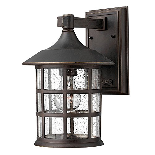 Hinkley Bronze Outdoor Lighting - Hinkley 1804OZ Traditional One Light Wall Mount from Freeport collection in Bronze/Darkfinish,
