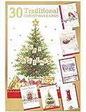 Shop inc - Confezione con 30 cartoline di Natale tradizionali assortite