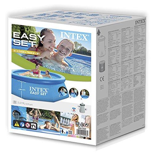 Intex easy set piscina hinchable 305 x 76 cm - Amazon piscinas hinchables ...
