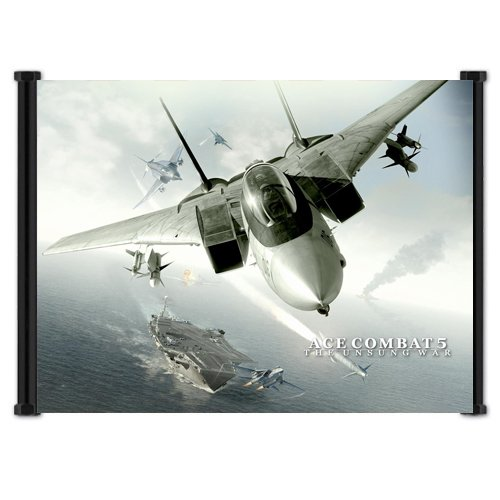 Ace Combat 5 The Unsung War Video Game Fabric Wall Scroll Po