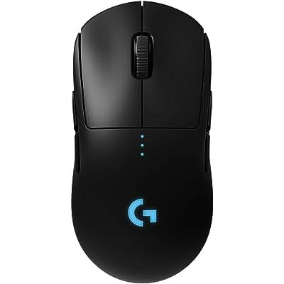 Logitech G Pro Ratón Gaming Inalámbrico, Sensor Hero 16K, 16,000 dpi, RGB, Peso Reducido, 4 hasta 8 Botones Programables, Batería Larga Duración, Memoria Integrada, PC/Mac - Negro