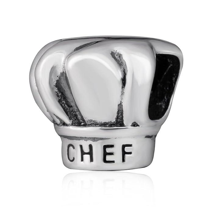 13 opinioni per Soulbead I love Cooking-Cappello da Chef in argento Sterling 925 con perline,