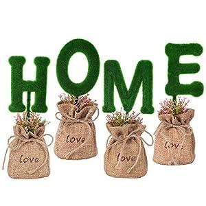 Woooow Artificial Hydrangea Flower Potted Artificial Plants,Hydrangea Silk Flowers with Ceramic Geometric Planter,Artificial Flower Bonsai for Living Room, Desk,Office, Shelf Decor 9