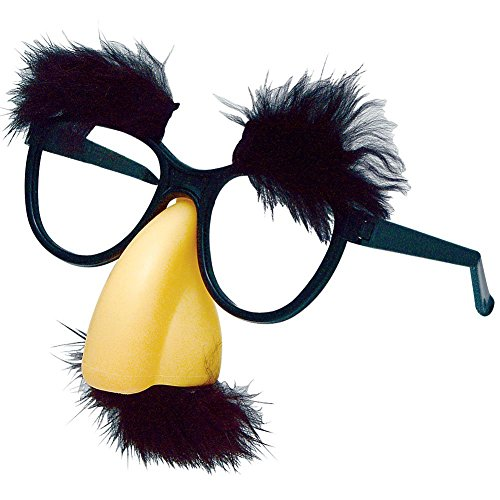 Fuzzy Puss Fake Nose Eyebrows Glasses Novelty - Babies For Fake Glasses