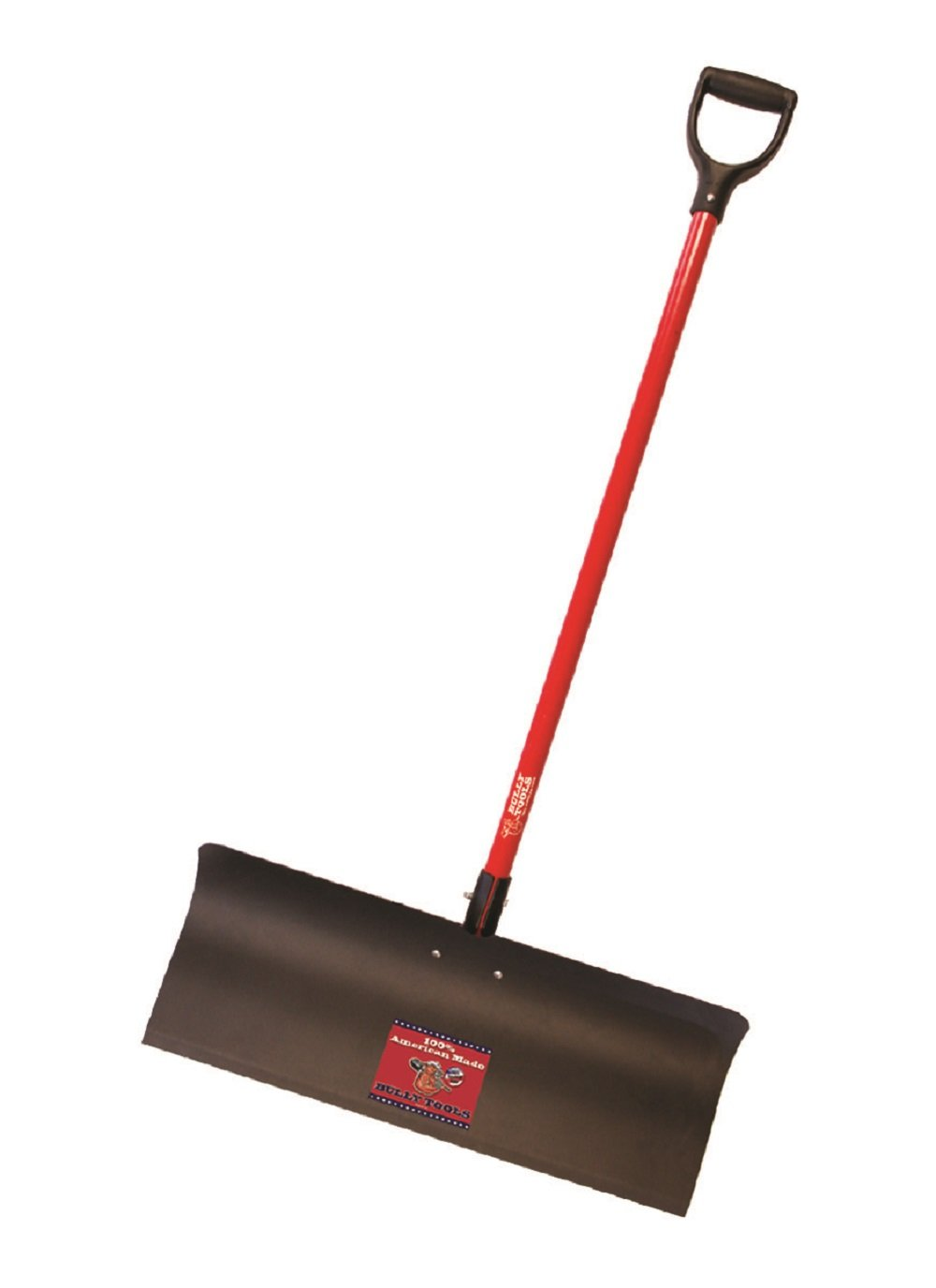 Bully Tools 92819 Steel Snow Pusher with Fiberglass D-Grip Handle, 30'' by Bully Tools