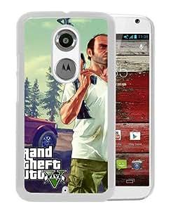 Moto X 2nd Gen phone cover,Grand Theft Auto V White Motorola Moto X 2nd Gen cell phone case