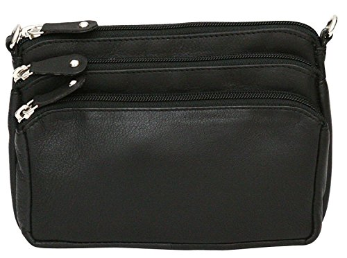 Bum Strap Black Genuine Felda Cross Shoulder Adjustable Ladies Body Leather Bag qAzwXHB