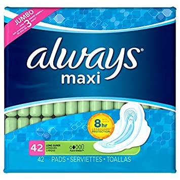 Always Maxi Pads, Super With Flexi-Wings, Unscented 42 Count by Always