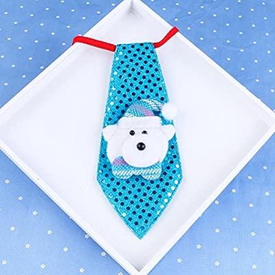 OULII Corbata de la Navidad Corbata Pendiente colgante brillante ...