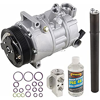 AC Compressor w/A/C Repair Kit For VW Golf GTI Beetle Eos Audi A3 TT - BuyAutoParts 60-80380RK New