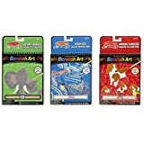 Melissa & Doug On the Go Scratch Art Activity Books Set - Safari Animals, Animal Families, Vehicles