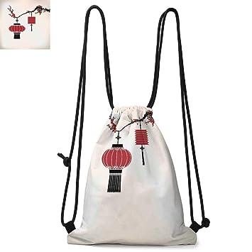 Tres Drawsting Backpack Red Black