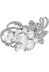 Nina Jaela Multi-Pearl Brooch