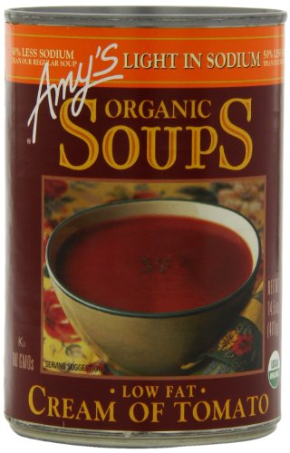 Amy's Organic Soups, Light in Sodium Cream Of Tomato, 14.5 Ounce (Pack of 12) -