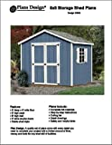 8' x 8' Classic Gable Storage Shed Project Plans -Design #20808