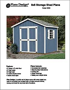 8 39 x 8 39 classic gable storage shed project plans design for Atv shed plans