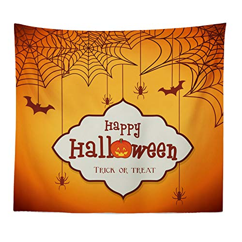 GINELO Halloween Pumpkin Tapestry Room Bedspread Wall Art