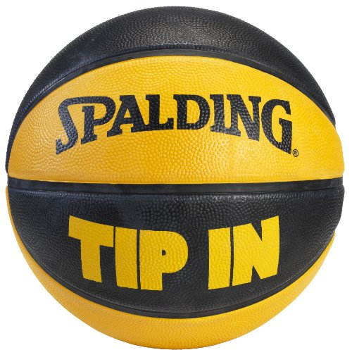 Spalding Tip In Outdoor Rubber Basketball  - Black/Orange - Size 7